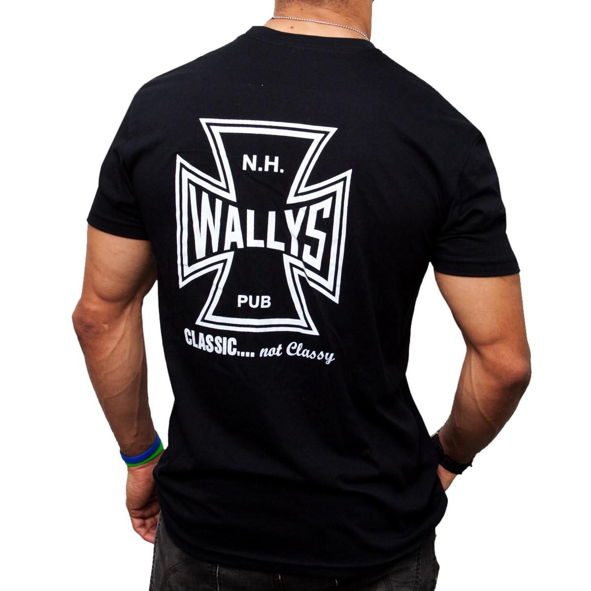 Black t shirt white cross on back - Home Men S Classic Not Classy Cross T Shirt